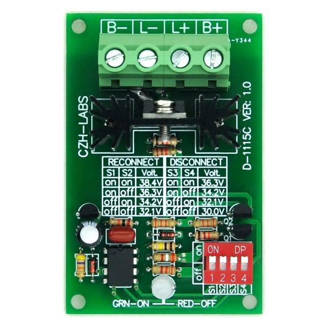 Низкого Напряжения Отключите Модуль LVD, 36 В 30А, защитить/Продлить Срок Службы Батареи.