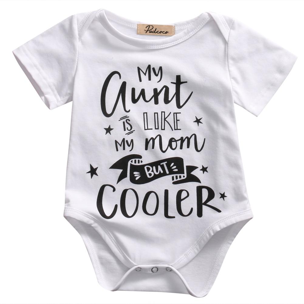 Letras Do Bebê Bodysuits Roupa Do Bebê Recém-nascido Menino Menina Impresso Manga Curta de Algodão Branco Bodysuit Bebê recem nascido 0- 18M