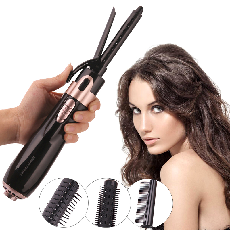 4 in 1 Multifunctional Hair Curler Hair Straightener Hair Dryer Comb  Antiscalding 2 Levels Adjustment Rotatable Cord
