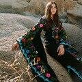 2019 nova chegada feminina mexicana vestido de impressão boêmio maxi vestido floral do vintage