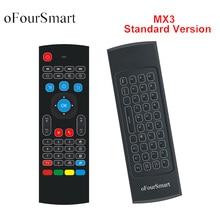 Обновлено 2,4 г Fly Air Мышь MX3 Беспроводной удаленного Управление Беспроводной Qwerty клавиатура для Smart ТВ коробка T95Z плюс /X96 мини-проектор