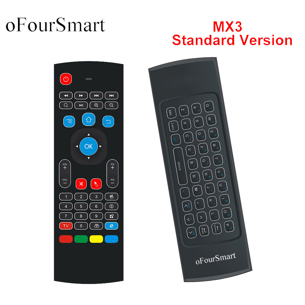 c7937615b3c 2.4G Fly Air Mouse MX3 Wireless Remote Control Wireless Qwerty Keyboard for  Smart