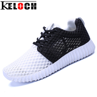 Keloch New Arrival Breathable Air Mesh Shoes Woman Summer Walking Casual Shoes Lightweight Lace Up Flat