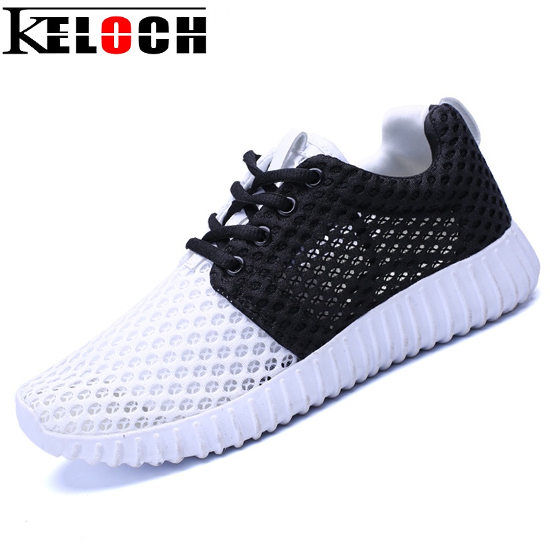 Keloch New Arrival Breathable Air Mesh Shoes Woman Summer Walking Casual Shoes Lightweight Lace-Up Flat Women Shoes fashion women casual shoes breathable air mesh flats shoe comfortable casual basic shoes for women 2017 new arrival 1yd103