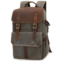 Outdoor Waterproof Photography DSLR Camera Backpack Wax Dye Canvas Video Digital Photo Bag Case New
