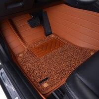 Filo di cuoio tappetino Dell'automobile per Porsche 911 911 S Cayman Macan Panamera Cayenne Boxter Doppio Berlina Tappeti Moquette Del Veicolo 7742