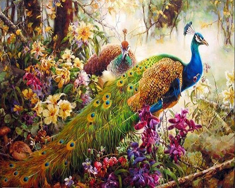 RUOPOTY diy frame Animals Digital Painting By Numbers Classical Home Decoration Wall Art Picture For Living Room Artwork 40X50 11