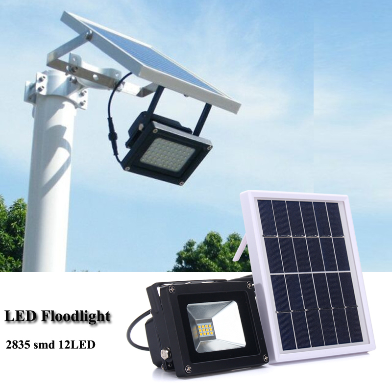 10W 12 LED Flood Light 2835 SMD Waterproof With Solar Panel Solar Powered LED Floodlight Outdoor Garden Security Solar Lamp