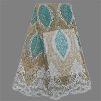 Graceful wedding/party French lace fabric African tulle net lace material with rhinestones XNE35(5yards/lot)