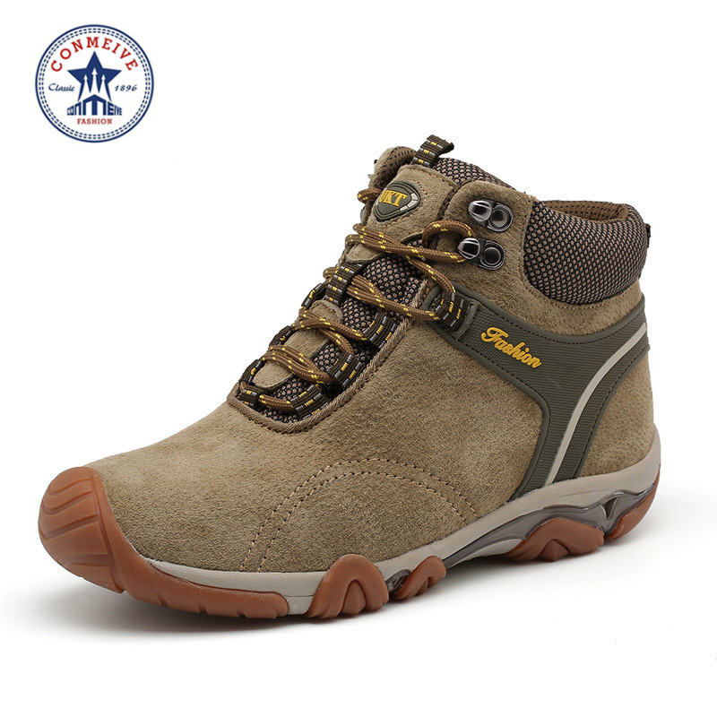 2018 New Wide c d w Massage Sapatilhas Outdoor Trekking Boots Anti skid Brand Men Shoes