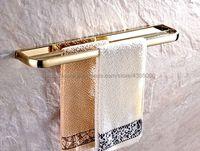 Luxury Gold Color Brass Wall mounted Double Towel Bar Holder Bathroom Towel Rack Bar Bathroom Accessories Bba842