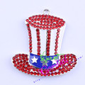 Envío Gratis 10 unids/lote Rhinestone $ number De Julio Colgante Mágico Sombrero Colgante de Prestidigitador Cowl Colgante CDRP-503724