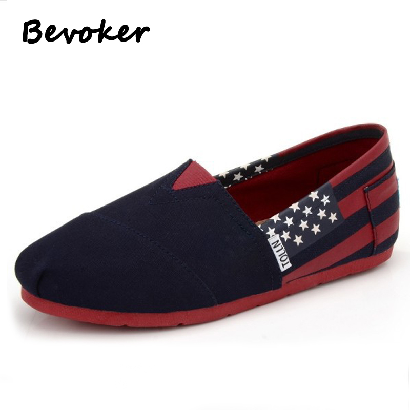 ФОТО Bevoker Women Loafers Canvas Shoes Fashion Slip On Woman Flats Breathable Shoes  Casual Canvas Espadrilles Unisex Driving Shoes