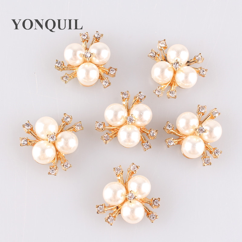 20 MM Handmade Fashion Metal Decor Buttons Crystal Pearl Flower Center  Alloy Flatback Rhinestone Buttons Craft Supplies MYQB001 1d752f0bec8c