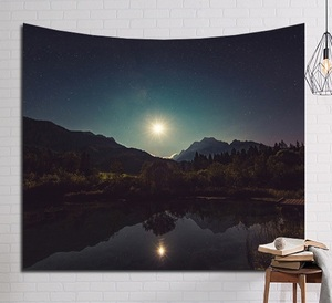 Image 5 - CAMMITEVER Psychedelic Beautiful Stars Starry Sky Fabric Wall Hanging Tapestry Decor Polyester Curtains Plus Long Table Cover