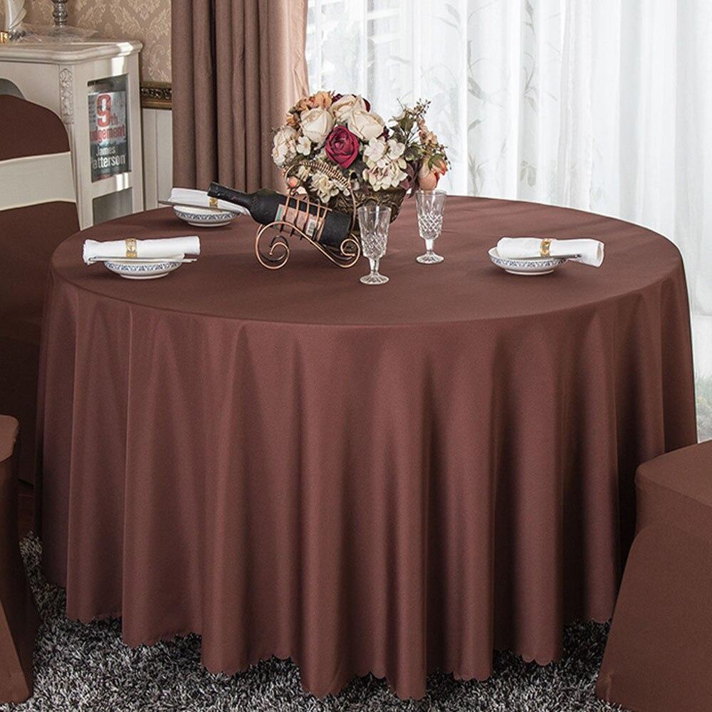 pano banquete do hotel festa redonda 240cm capa de mesa poliéster