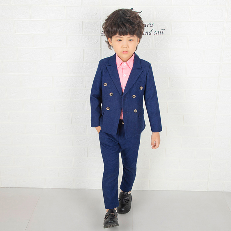 1b8a0e0dcae22 ActhInK New Boys Double Breasted Blazer Suit England Style Boys Winter  Jacket+Pants Clothing Set Children Wedding Party Costume