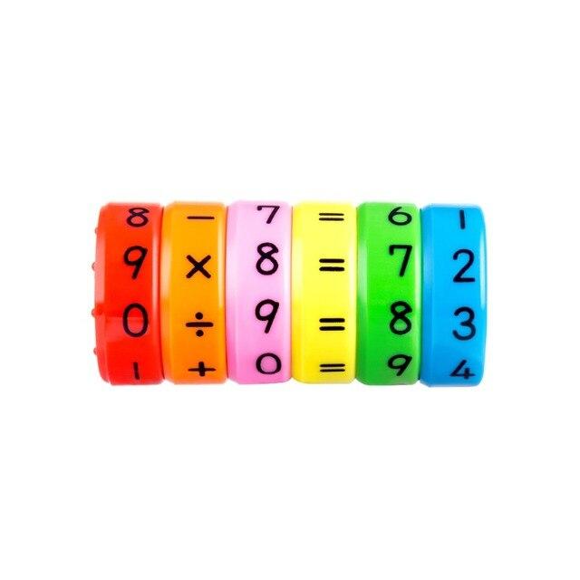 Magnético Montessori niños Juguetes Educativos de plástico para niños números de matemáticas DIY ensamblaje rompecabezas niños niñas regalos