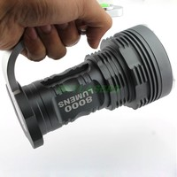 6T6 30W 8000 Lumens 6 * XM L T6 5 Modes Aviation Aluminum Alloy Flashlight Torch with Handle New Version Free Shipping
