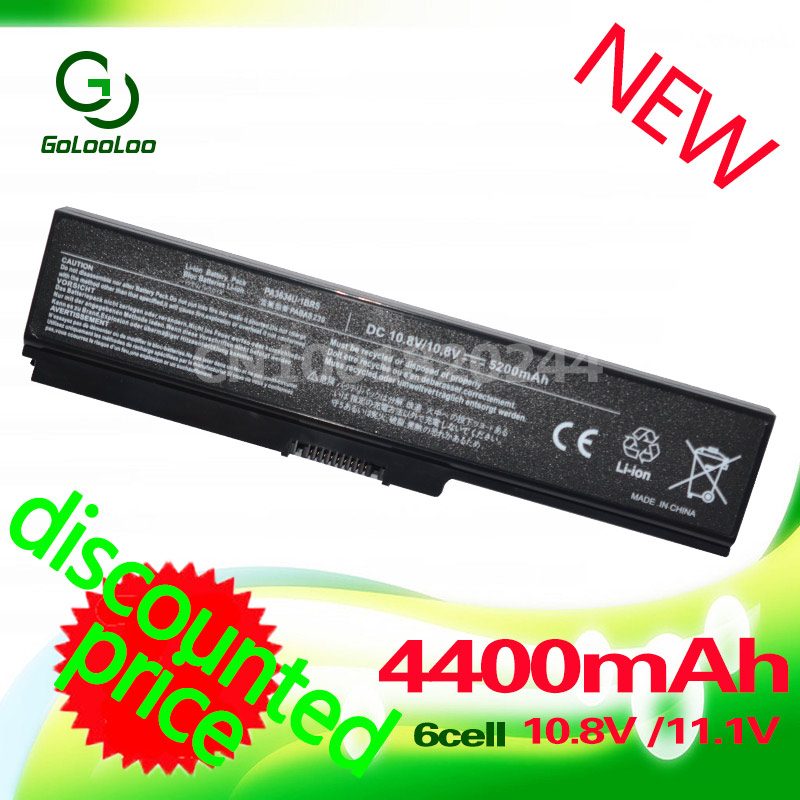 Golooloo Battery 4400mAh 6 cells laptop battery for toshiba Satellite C660 A665D C650 C640 C645D C640D C655 C655D C660D wholesale v000225020 laptop motherboard for toshiba c650 c655 100