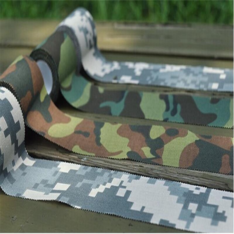 Yüksek Kalite 1 Adet Çekim Avcılık Kamp Için Açık Su Geçirmez Kamuflaj Kumaş Bant Aracı Ordu Camo Stealth Bant Wrap 5X4.5 CM