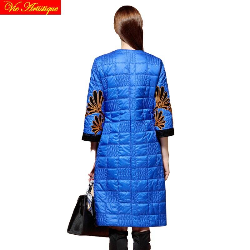 Bohemia floral winter jacket woman parka fem me hiver womens long coats jackets big size green navy red jazzevar miegofce VA