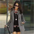 2016 New Brand Autumn Fashion Casual Women Wool Blend Double Breasted  Lapel Trench Coat long Outerwear for Lady Good Quality
