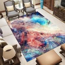 Nordic style Big Size Carpet Galaxy Space 3D Print Rug Flannel Parlor Area Rugs Bedroom Decor Carpets for Living Room Home Mats цена в Москве и Питере
