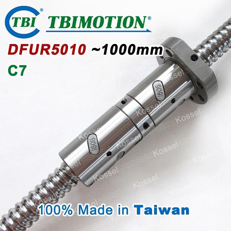 100% Taiwan TBI MOTION 5010 Ballscrew 1000mm Rolled C7 with DFU5010 Ball screw nut горелка tbi sb 360 blackesg 3 м