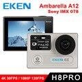 Original eken H8 PRO Ultra HD Ação Câmera com Ambarella A12 chip 2.0 'Tela 4 k/30fps 1080 p/120fps ir h8pro Câmera esporte sj