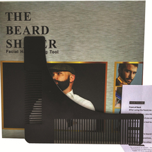High Quality Stainless Steel Beard Comb Beard Shaping Tool Sex Man Gentleman Trim Template Hair Cut Molding Modelling Tools