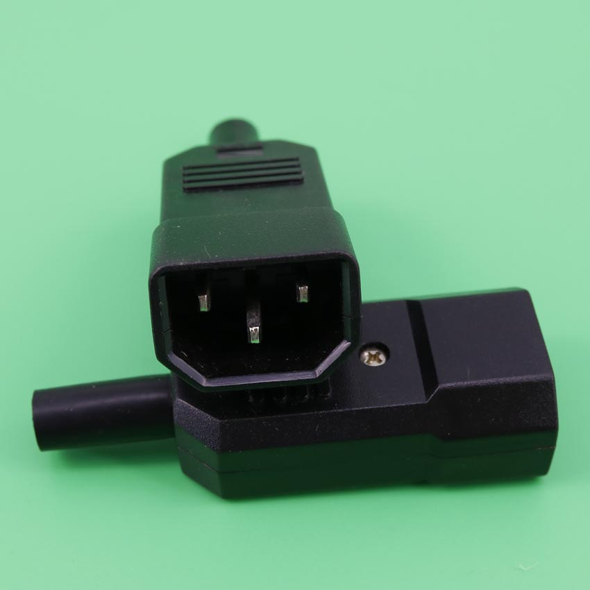 YuXi New Wholesale Price 10A 250V Black IEC C14 Male Plug Rewirable Power Connector 3 pin ac Socket ботинки queen vivi queen vivi qu004awxmf40
