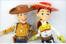 Pixar Toy Story 3 Talking Woody Talking Jessie Doll Plush Andy English PVC Action Figure Collectible Model Toy Doll