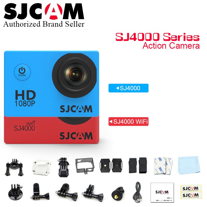 Original SJCAM SJ4000 Series Action Video Camera 1080P Full HD SJ4000 Wifi / SJ 4000 2.0 LCD Waterproof Mini Outdoor Sport DV amk7000s camera 1080p hd action digital camera 2 0 lcd 4k wifi sport dv video photo camera 20mp waterproof 40m mini camcorder