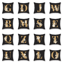 2019 explosion models home bedding pillowcase 26 letter 45*45cm digital printing polyester pillowcover cushion cover sofa pillow