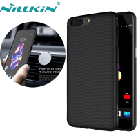 One Plus 5 Case NILLKIN Synthetic Fiber Back Cover Case PP Back Shell For One Plus