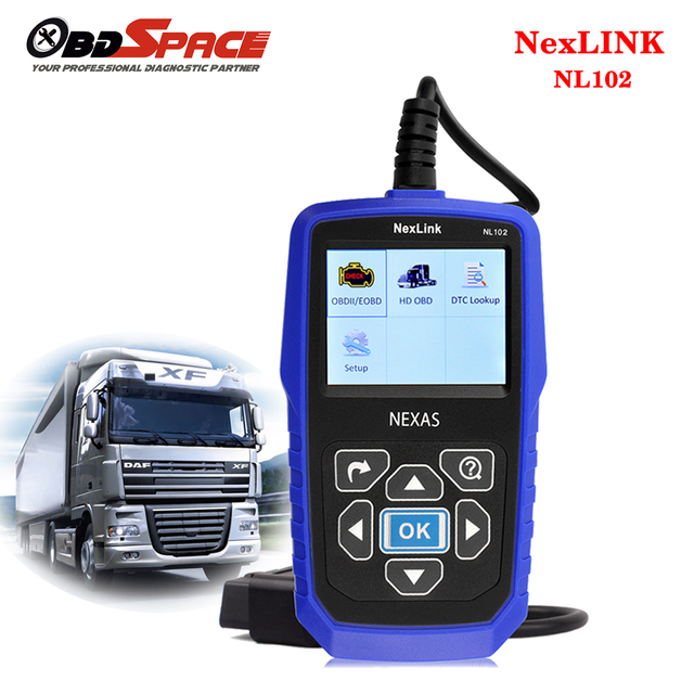 DHL Free Universal OBD2 Car Truck Scanner 2 in 1 NL102 for Multi Brands Truck Diagnostic Tool Auto Scanner with Battery Monitor