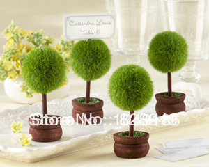 Factory directly sale 60pcs/lot Wedding favor Topiary Photo Holder/Place Card Holder table number card holder