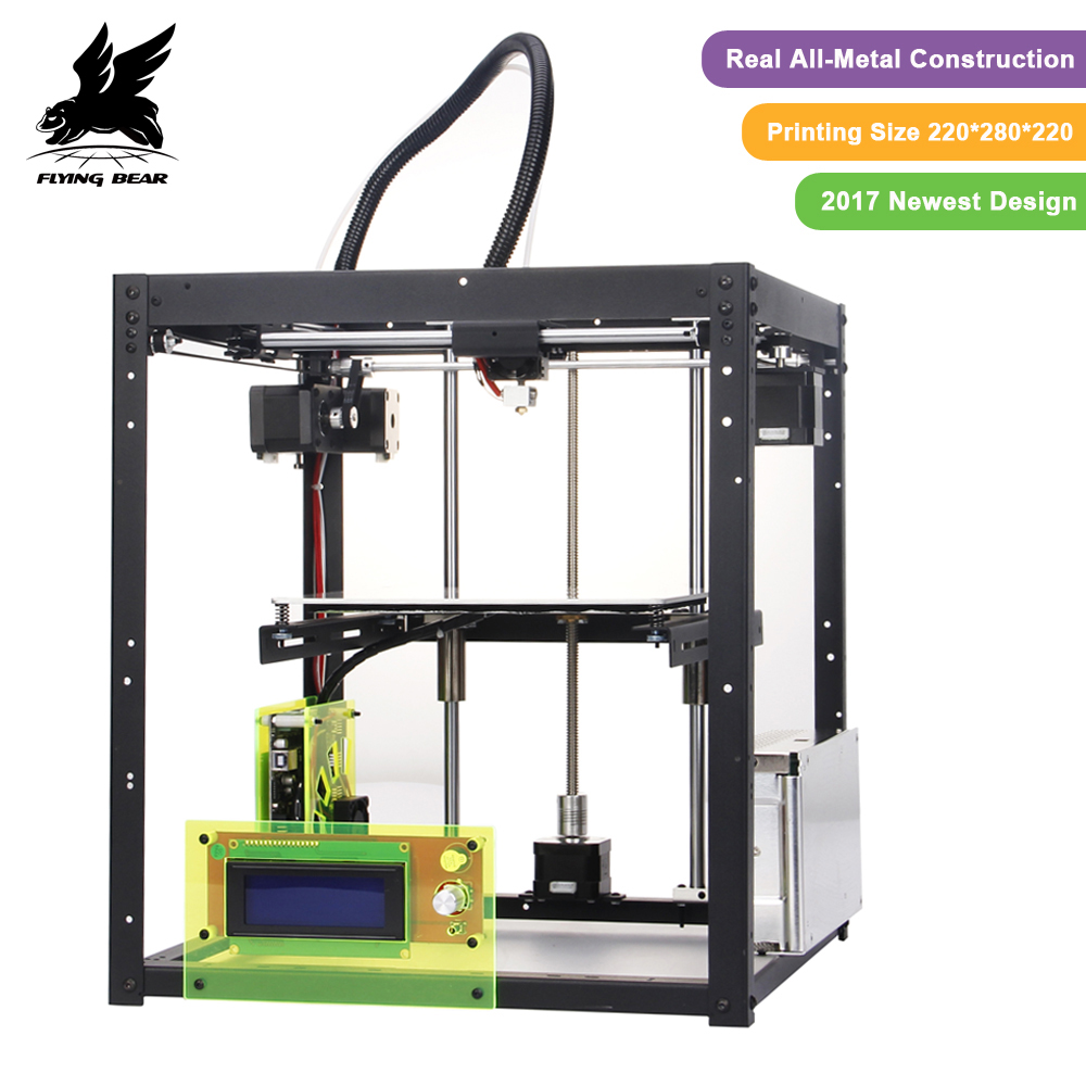 3D printer kit FlyingBear P905 All Metal Dual Extruder Auto Leveling Makerbot Structure DIY 3D Printer