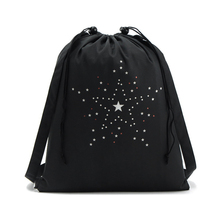 Casual High Quality Drawstring Bags Travel Sports Shoe Dance Bag Unisex Travel Storage Bag Traveling Backpack Black Printed Bags
