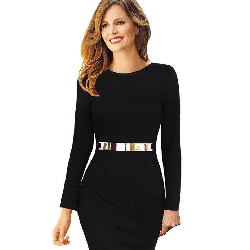 newest 1ae87 c7878 US $28.99  Bello Caldo di Un pezzo Modelli Eleganti Lavoro Ufficio vestito  Aderente Donna Completa Manica Tubino Sexy Party Dress Abiti A116 in Bello  ...