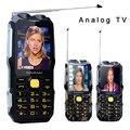 Mafam D2016 Voz Mágica linterna Dual FM 13800 mAh MP3 MP4 Antena de Banco de energía TV analógica robusto teléfono móvil ruso clave