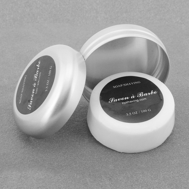 ZY Men Barber Shaving Soap Foaming Lather Shave Beard Shaving Cream For Straight Razor Shaver Badger Hair Brush + Aluminum Box  1