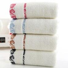 Di alta qualità, regalo di spessore, telo di cotone puro, nube ricamo, logo stampato asciugamano allingrosso.