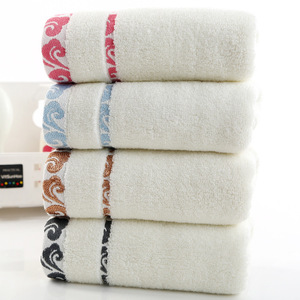 Image 1 - High quality, thick gift, pure cotton towel, cloud embroidery, printed logo towel wholesale.