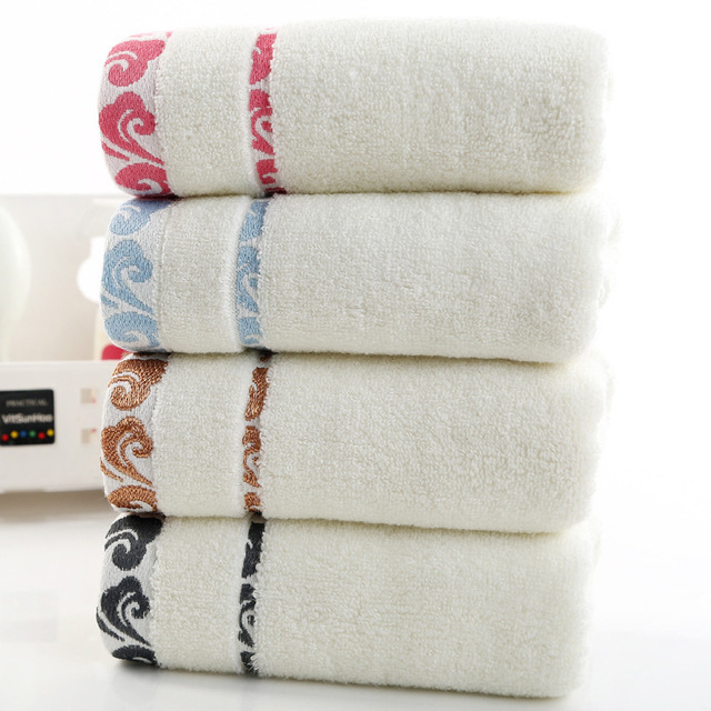 High quality, thick gift, pure cotton towel, cloud embroidery, printed logo towel wholesale.
