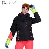 Detector Women Ski Jacket Outdoor Winter Ski Suit Womens Waterproof Windproof Snowboard Coat