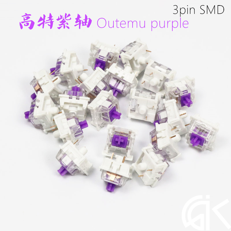 High Quality Outemu Mechanical Keyboard Switch Purple Swtiches Purple Axis Like Cherry MX White Touch Bottom 62g