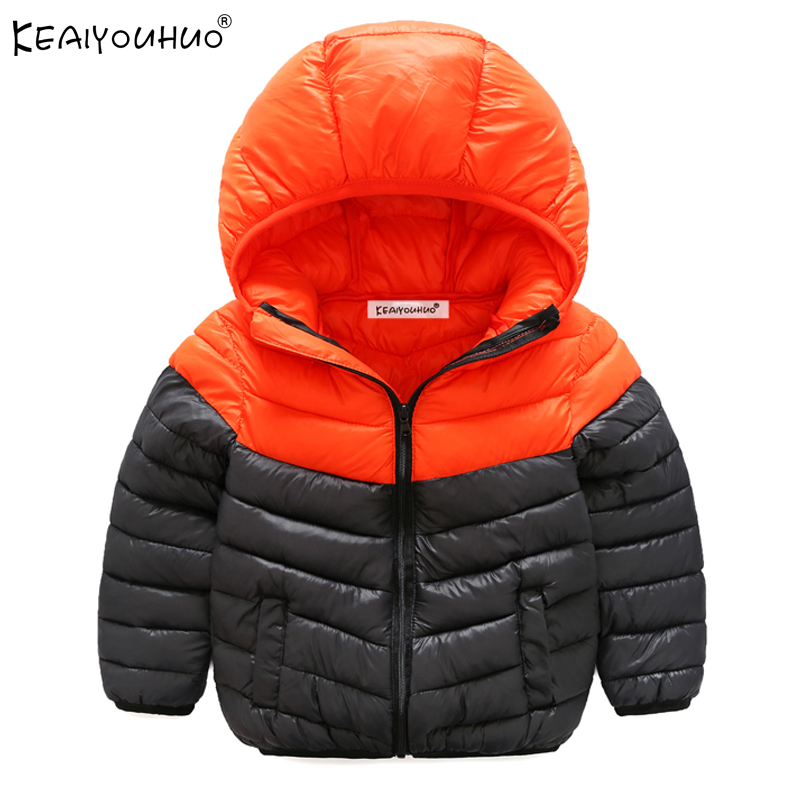 Boys Coats For 3 10 Years Children 2017 Winter Boy Jackets Hooded Cartoon Baby Clothes For