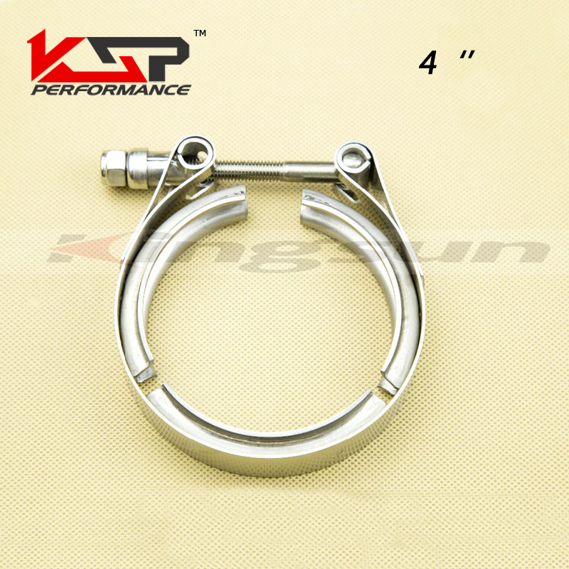 Kingsun 4 Sus 304 Stainless Steel V Band Clamp With T Bolt Professional For Turbo /Exhaust Downpipes-- Clamp Only